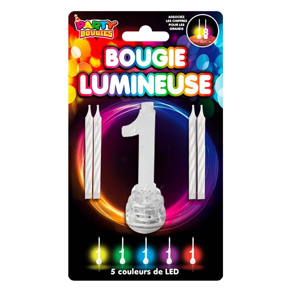 Bougie Lumineuse clignotante chiffre 1