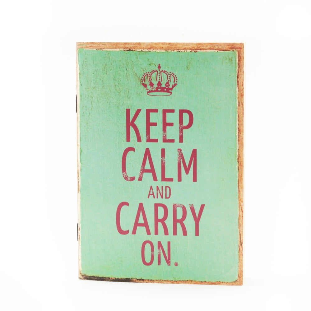 "Carnet de notes Vintage art ""Keep calm.."""