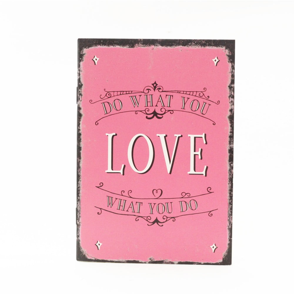 "Carnet de notes Vintage art ""Love what you do"""
