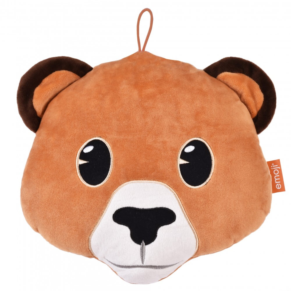 Coussin Animoji Ours brun