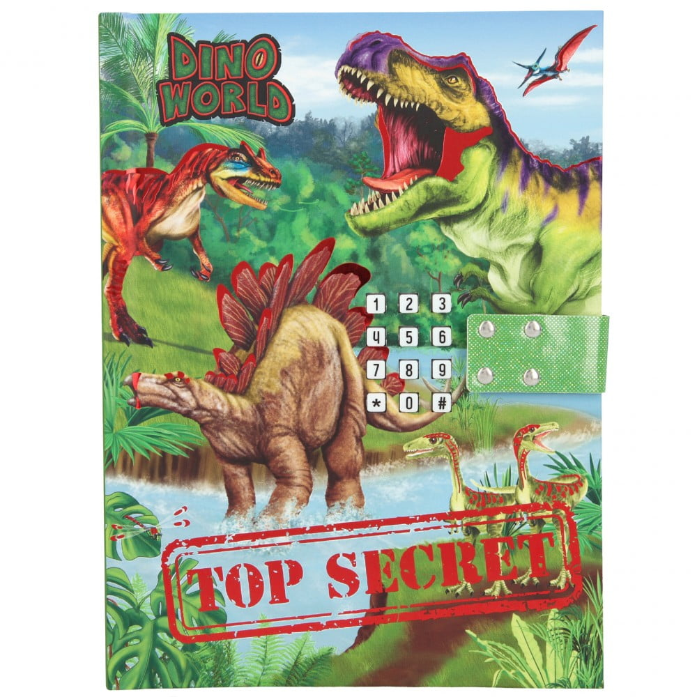 Journal intime à digicode Dino World