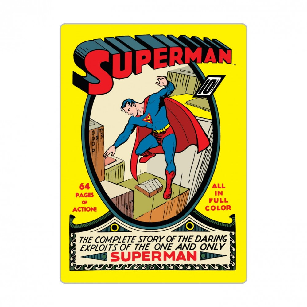 Magnet métal Superman comic book