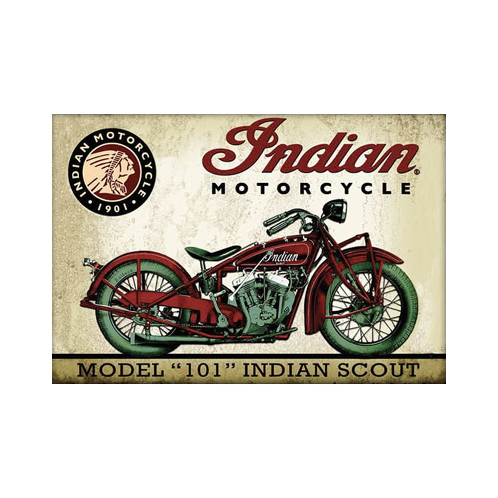 "Magnet vintage ""101 Indian scoot"""