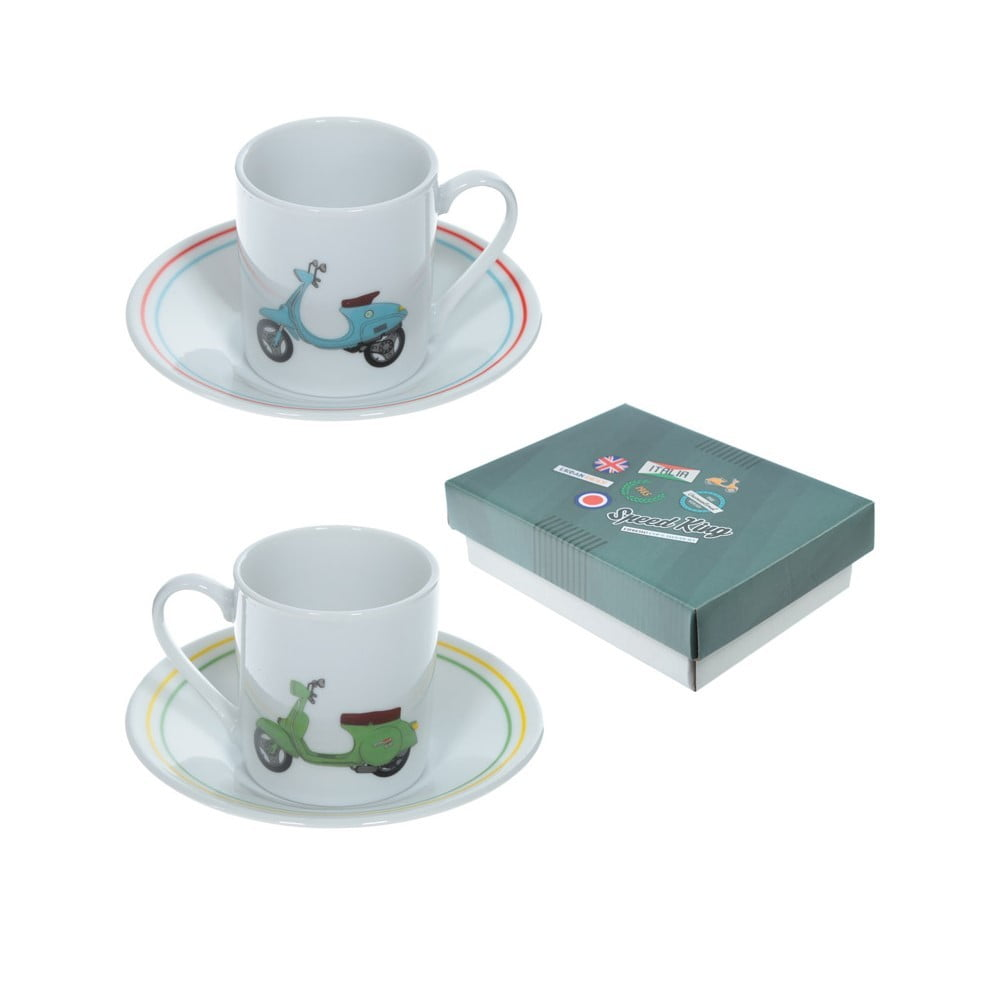 Set de 2 tasses scooter