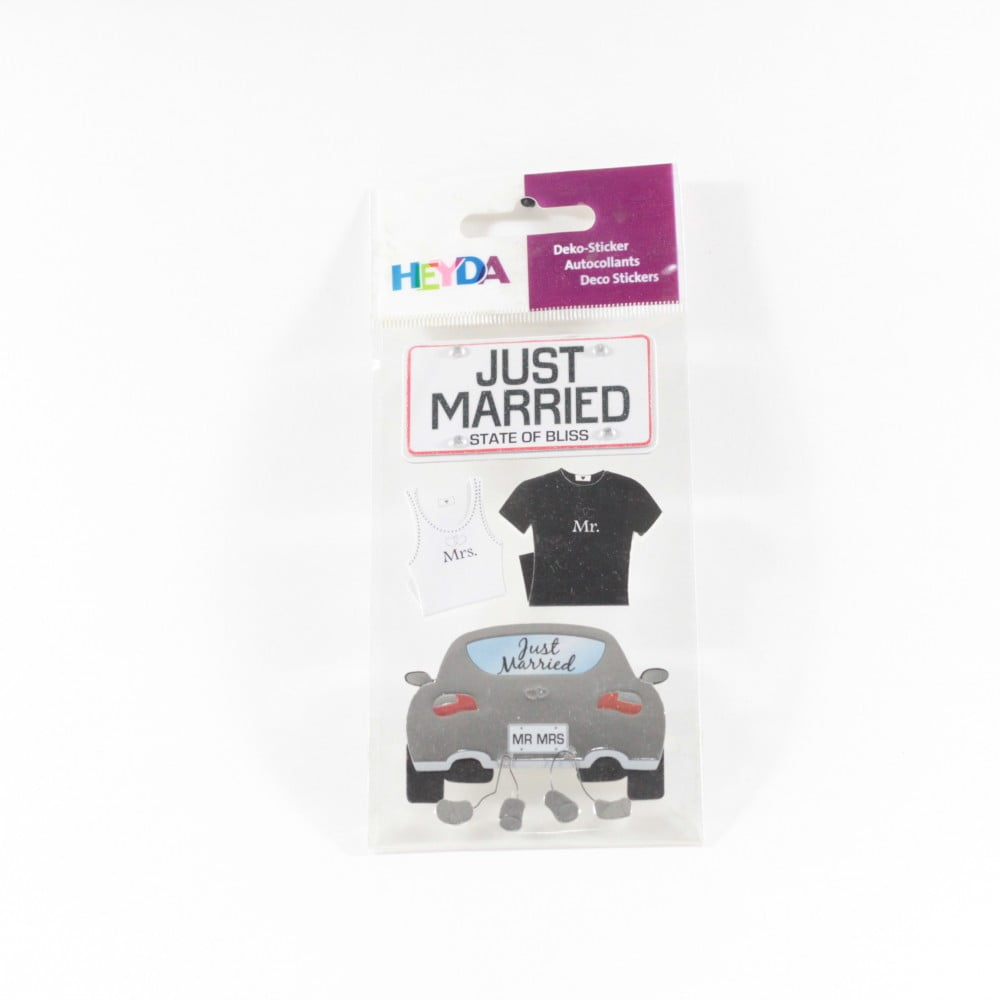 "Stickers ""Just Married"""